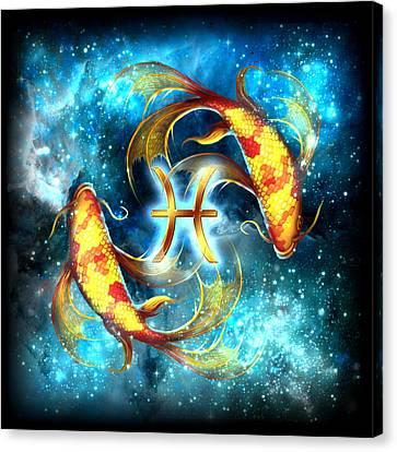 Zodiac Pisces Canvas Print by Ciro Marchetti