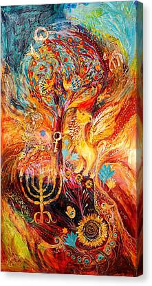 Zodiac Project Leo Virgo Cancer Canvas Print by Elena Kotliarker