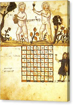 Zodiac Sign Of Gemini Illustration Canvas Print by Granger