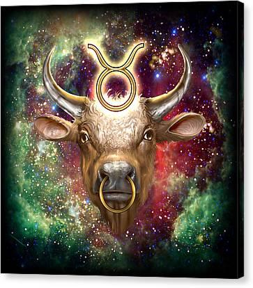 Zodiac Tauro Canvas Print by Ciro Marchetti