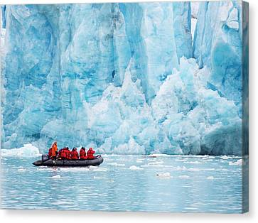 Inflatable Canvas Print - Zodiaks Off The Russian Research Vessel by Ashley Cooper