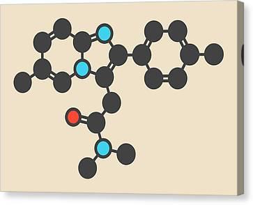 Zolpidem Insomnia Drug Molecule Canvas Print by Molekuul
