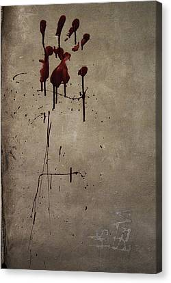 Zombie Attack - Bloodprint Canvas Print