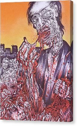 Zombie Blood Sunset Canvas Print