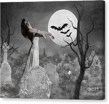 Zombie Bride Canvas Print by Juli Scalzi