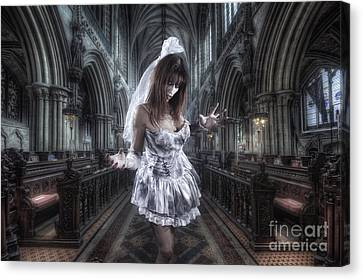 Zombie Bride Canvas Print by Yhun Suarez
