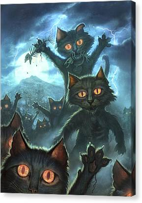 Zombie Cats Canvas Print by Jeff Haynie