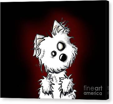 Zombie Dog Canvas Print