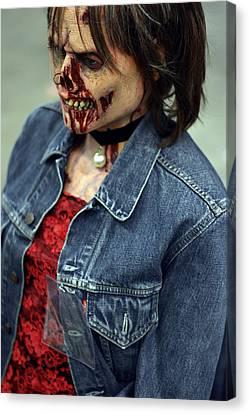 Carmen Zombie Face Canvas Print