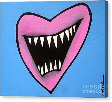 Zombie Heart Canvas Print by Thomas Valentine