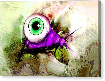Goulish Canvas Print - Zombie Insect by Jenni Mitkovic
