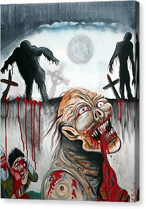Zombie Moon Canvas Print by Laura Barbosa