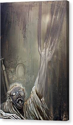 Zombie Rising Canvas Print by Laura Barbosa