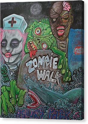 Zombie Walk Canvas Print by Laura Barbosa