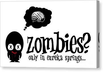 Zombies In Eureka Springs Canvas Print