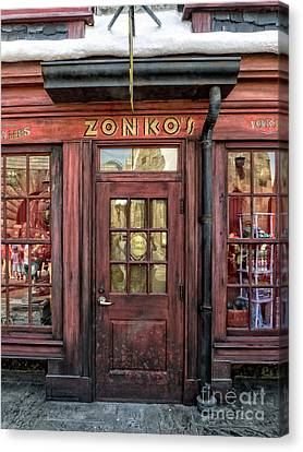Zonkos Joke Shop Hogsmeade Canvas Print by Edward Fielding