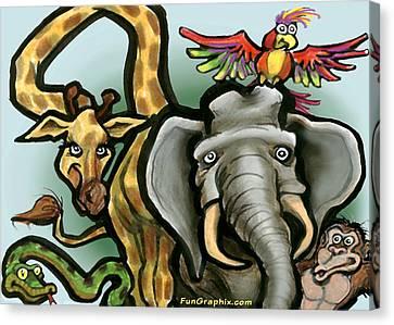 Zoo Animals Canvas Print