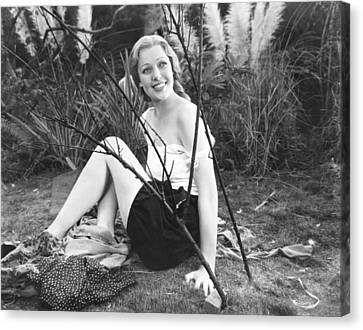 Zoo In Budapest, Loretta Young, 1933 Canvas Print by Everett