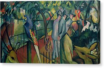 Zoological Garden I, 1912 Oil On Canvas Canvas Print by August Macke