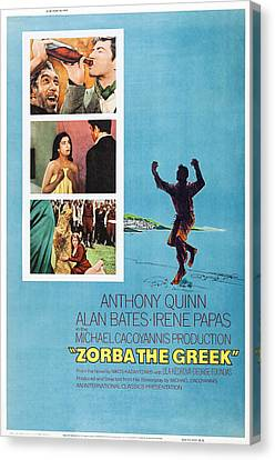Zorba The Greek, Us Poster Art, Top Canvas Print