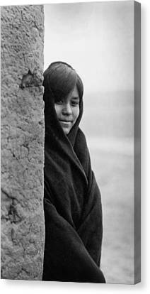 Indigenous Canvas Print - Zuni Indian Girl Circa 1903 by Aged Pixel