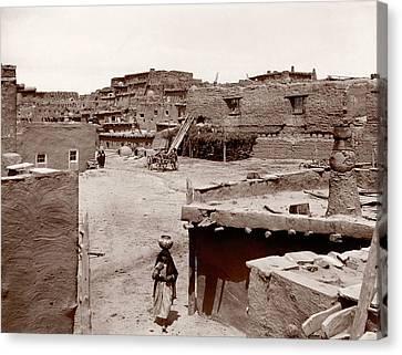 Zuni Pueblo Canvas Print by Mid-manhattan Picture Collection/new York Public Library