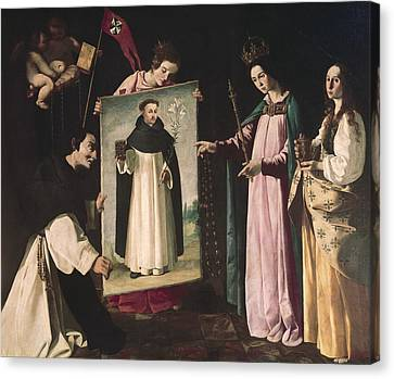 Saint Dominic Canvas Print - Zurbaran, Francisco De 1598-1664. The by Everett