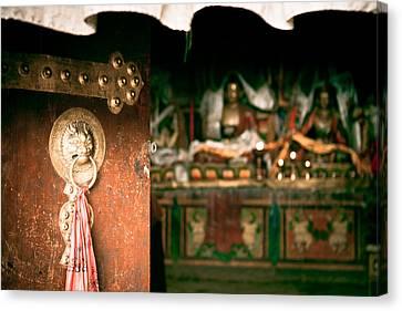 Milarepa Canvas Print - Zuthrul Phug Monastery Milarepas Cave by Raimond Klavins