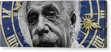 Zytgloggenrichter- Albert Einstein Canvas Print by Simon Kregar