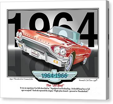 1964 Thunderbird Canvas Print