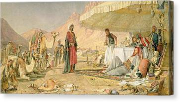 A Frank Encampment In The Desert Of Mount Sinai Canvas Print