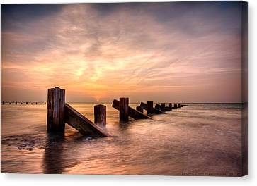 Canvas Print featuring the photograph  Abermaw Sunset by Beverly Cash