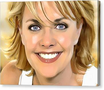 Amanda Tapping Portrait A Canvas Print by Andre Drauflos