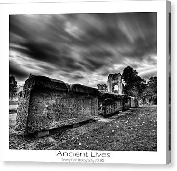 Canvas Print featuring the photograph  Ancient Lives by Beverly Cash