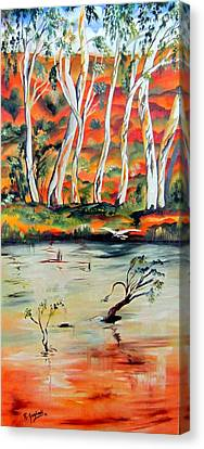 Canvas Print featuring the painting  Aussiebillabong by Roberto Gagliardi
