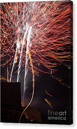 Bastille Day Fireworks Canvas Print by Sami Sarkis