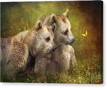 Bear Hugs Canvas Print by Trudi Simmonds