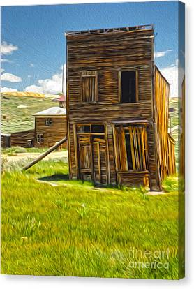 Bodie Ghost Town - Bent House 02 Canvas Print by Gregory Dyer
