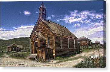 Bodie Ghost Town - Church 02 Canvas Print by Gregory Dyer