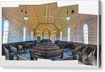 Bodie Ghost Town - Church 03 Canvas Print by Gregory Dyer