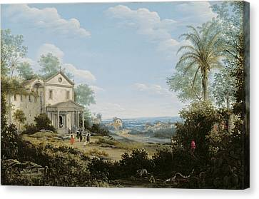 Brazilian Landscape Canvas Print by Frans Jansz Post
