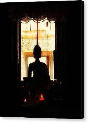 Canvas Print featuring the photograph  Buddha by Lynn Hughes