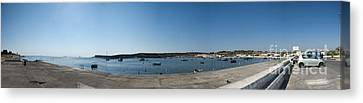 Bugibba Harbour Malta Canvas Print by Guy Viner