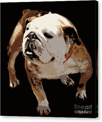 Canvas Print featuring the photograph  Bulldog  by Mindy Bench