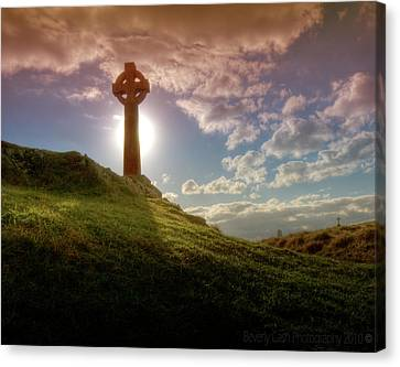 Canvas Print featuring the photograph  Celtic Cross by Beverly Cash