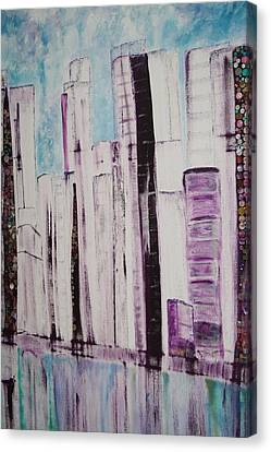 City Canvas Print by Elisabeth Charbonneau