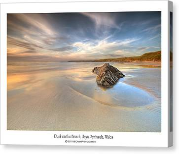 Dusk On The Beach Canvas Print