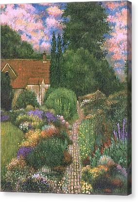 English House And Garden 1 Canvas Print by    Armand  Storace
