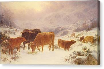 Hard Times 1898 Canvas Print by Basil Bradley