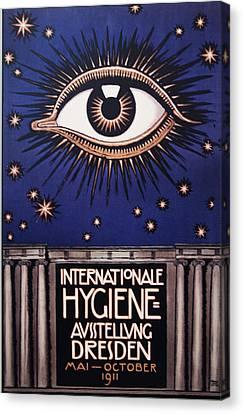 International Hygiene  Exhibition Dresden 1911 Canvas Print by Bill Cannon